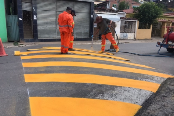 Prefeitura de Pilões contrata empresa para a pintura da travessia urbana